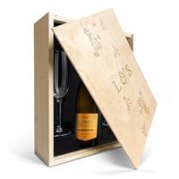 YourSurprise Champagnepakket met glazen - Riondo Prosecco Spumante - Gegraveerde deksel
