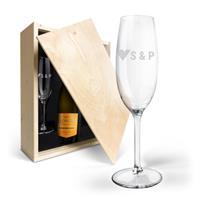 YourSurprise Champagnepakket met gegraveerde glazen - Riondo Prosecco Spumante