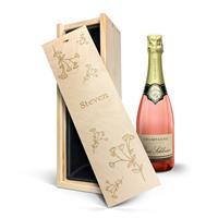 YourSurprise Champagne in gegraveerde kist - René Schloesser rosé (750ml)