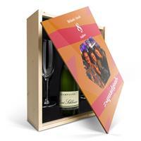 YourSurprise Champagnepakket met glazen - René Schloesser (750ml) - Bedrukte deksel