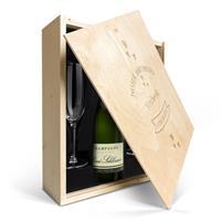 YourSurprise Champagnepakket met glazen - René Schloesser (750ml) - Gegraveerde deksel