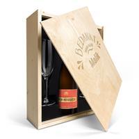 YourSurprise Champagnepakket met glazen - Piper Heidsieck Brut (750ml) - Gegraveerde deksel