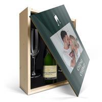 YourSurprise Champagnepakket met glazen - Moët & Chandon Brut - Bedrukte deksel