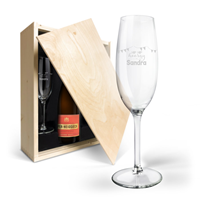 YourSurprise Champagnepakket met gegraveerde glazen - Piper Heidsieck Brut (750ml)