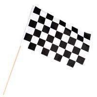Finish vlag zwaaivlag wit/zwart geblokt 30 x 45 cm Multi