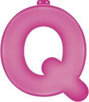 Haza Original feestletter ''q'' roze 35 cm
