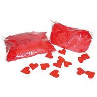 2x Rode hartjes confetti 250 gram Rood