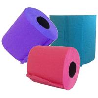 Renova Paars/roze/turquoise wc papier rol pakket Multi