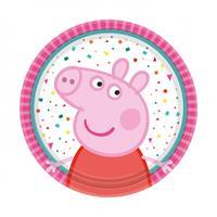 Amscan feestborden Peppa Pig 18 cm 8 stuks