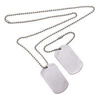 2x Dogtags aan ketting soldaten verkleed accessoire Zilver