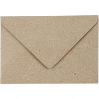 Creotime enveloppen 7,8 x 11,5 cm 50 stuks 120 g beige