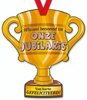 trofee Onze Jubilaris 33 cm karton goud