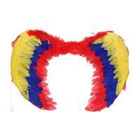 Gekleurde veren vleugels 60 cm Multi