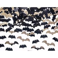 3x zakje Vleermuizen confetti mix zwart en goud halloween Multi