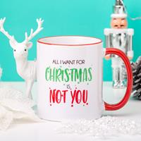 Gepersonaliseerde mok All I Want For Christmas Is...