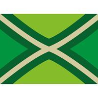 Bellatio 5x Achterhoekse vlag stickers 7.5 x 10 cm Groen