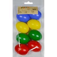 8x Gekleurde kunststof eieren decoratie 6 cm hobby Multi