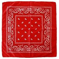 4x Rode boeren bandana zakdoeken Rood