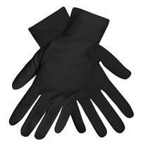 Set van 2x paar zwarte verkleed handschoenen kort volwassenen Zwart