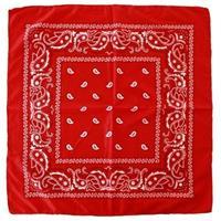 2x Rode boeren bandana zakdoeken Rood