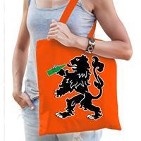 Bellatio Oranje Koningsdag tasje met drinkende leeuw voor dames