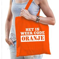 Bellatio Het is weer code Oranje tasje voor dames