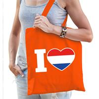 Bellatio Oranje I love Holland tasje voor dames