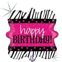 Folie ballon Happy Birthday verjaardag 46 cm met helium gevuld Multi