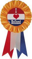 Haza Original rozet ''I love holland'' oranje 8 x 14,5 cm