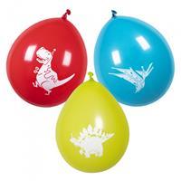 Boland ballonnen dino junior 25 cm latex 6 stuks