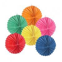 Boland ballonlampionnen 22 cm papier 6 kleuren 12 stuks