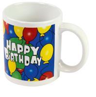 Tom mok Happy Birthday 12,5 x 9,5 x 8cm 300 ml keramiek blauw