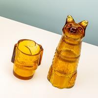 DOIY Kitty stapelbare glazen (set van 4) - Bruin