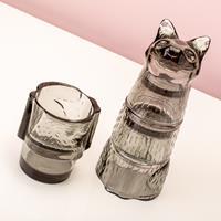 DOIY Kitty stapelbare glazen (set van 4) - Zwart