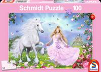 schmidt Prinses en de Eenhoorn 100 stukjes - Puzzel