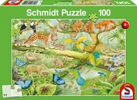 schmidt Dieren in de Jungle 100 stukjes - Puzzel