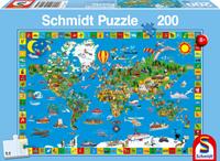 schmidt Geweldige Wereld 200 stukjes - Puzzel