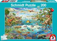 schmidt Ontdek de Dinosaurussen 200 stukjes - Puzzel