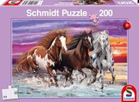 schmidt Trio van Wilde Paarden 200 stukjes - Puzzel