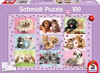 schmidt Mijn Dieren Vrienden 100 stukjes - Puzzel