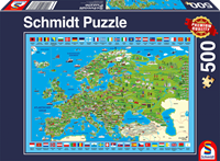schmidt Ontdek Europa! 500 stukjes - Puzzel