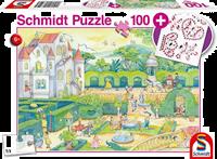 schmidt Bij de Sprookjesprinsessen 100 stukjes - Puzzel