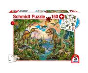 schmidt Wilde Dino's 150 stukjes - Puzzel