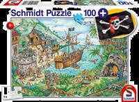 schmidt Piraten Baai 100 stukjes - Puzzel