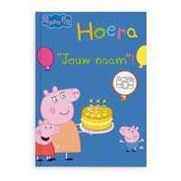 YourSurprise Boek met naam - Peppa Pig - Hoera! - Hardcover