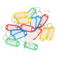 20x Gekleurde sleutellabels/sleutelhangers Multi