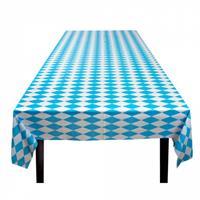 Boland tafelkleed Oktoberfest 130 x 180 cm blauw/wit