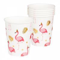 Boland bekertjes flamingo 250 ml papier wit 6 stuks