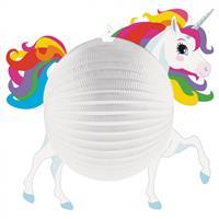 Amscan lampion Unicorn junior 25 cm papier wit