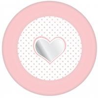 24x stuks Papieren bordjes geboorte meisjes feestartikelen Roze